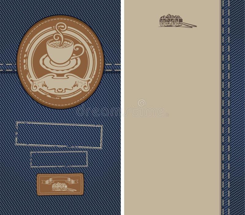 Download Cup on denim stock vector. Illustration of knife, jeans - 25696973