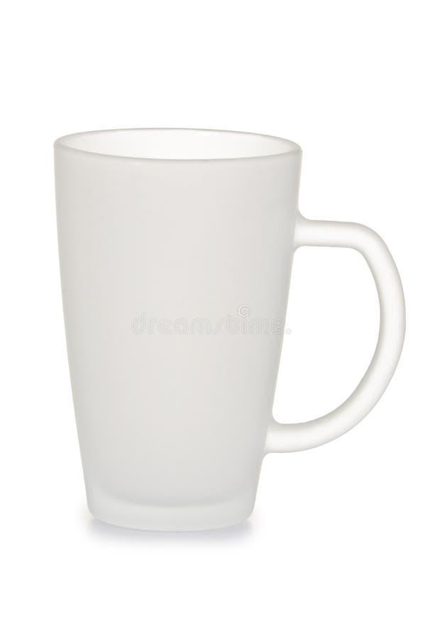 Cup des bereiften Glases stockfotos