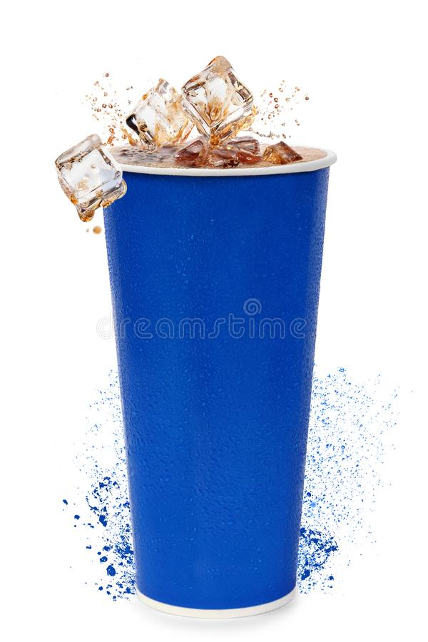Cup with drink royalty free stock photo