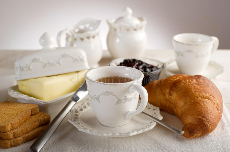 Cup with english tea stock photos