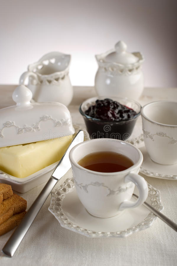 Cup with english tea royalty free stock photo
