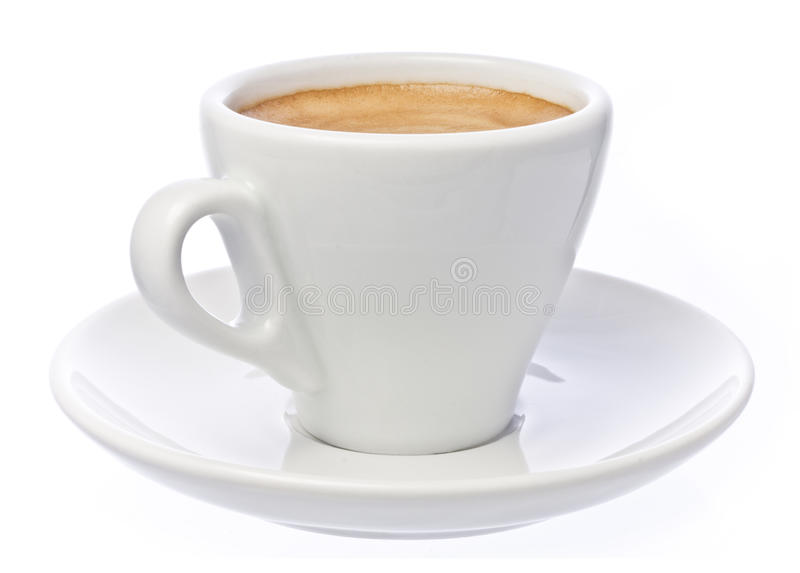 Cup of espresso Coffee isolated over white stock photos