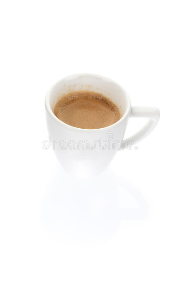 A cup of espresso coffee royalty free stock photo