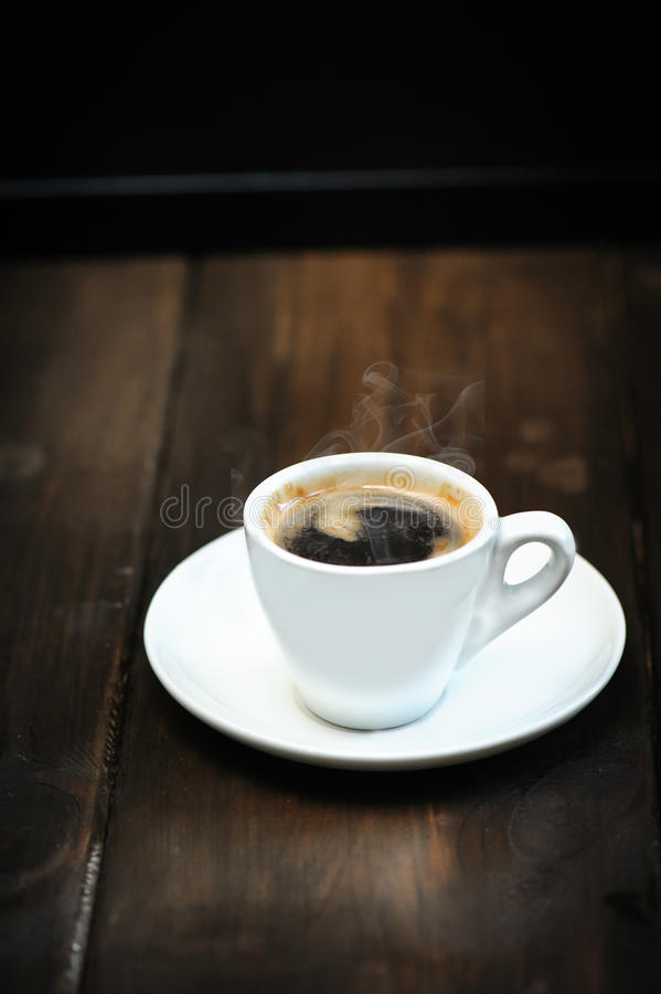 Cup of espresso stock photos
