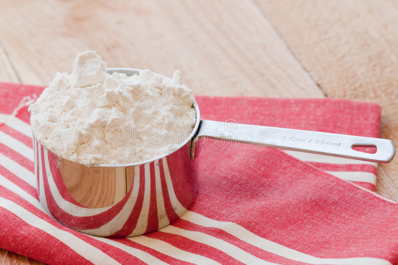 Cup Of Flour Royalty Free Stock Photo