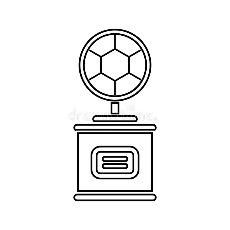 cup with a football sword icon. Element of Sucsess and awards for mobile concept and web apps icon. Thin line icon for website stock illustration