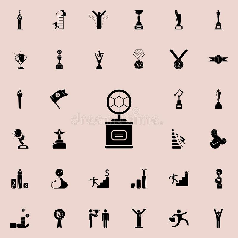 cup with a football sword icon. Sucsess and awards icons universal set for web and mobile vector illustration