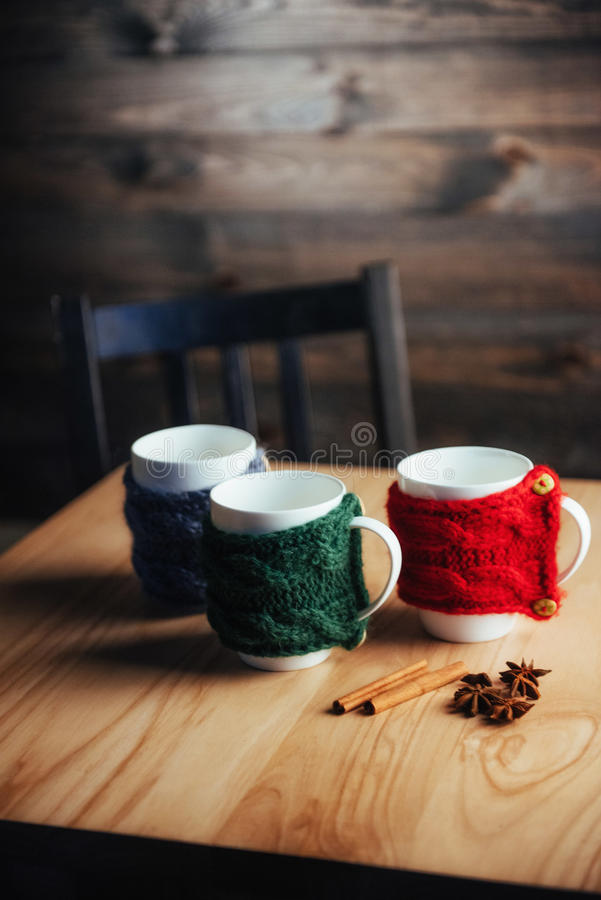 Cup of fragrant tea jersey. beautiful song.  royalty free stock images