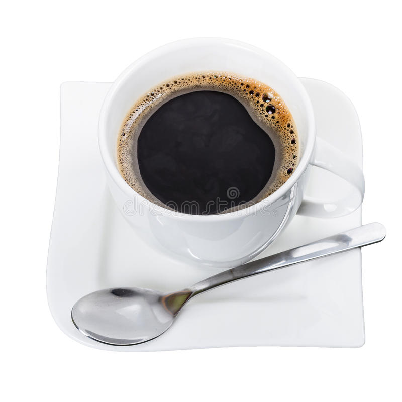 Download Cup Of Fresh Black Coffee Isolated Stock Image - Image: 29006133
