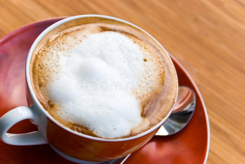 A Cup Of Fresh Brewed And Hot Cappuccino Royalty Free Stock Photography