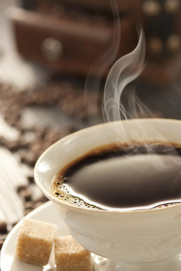 Cup of fresh coffee stock photos