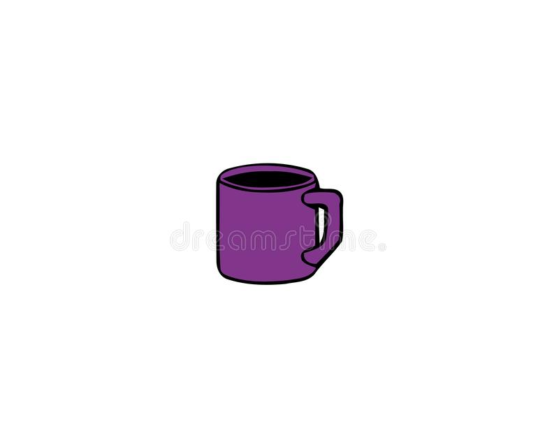 Cup of Fresh Coffee. Vector Illustration. Flat Style. Decorative Design for Cafeteria, Posters, Banners, Cards vector illustration