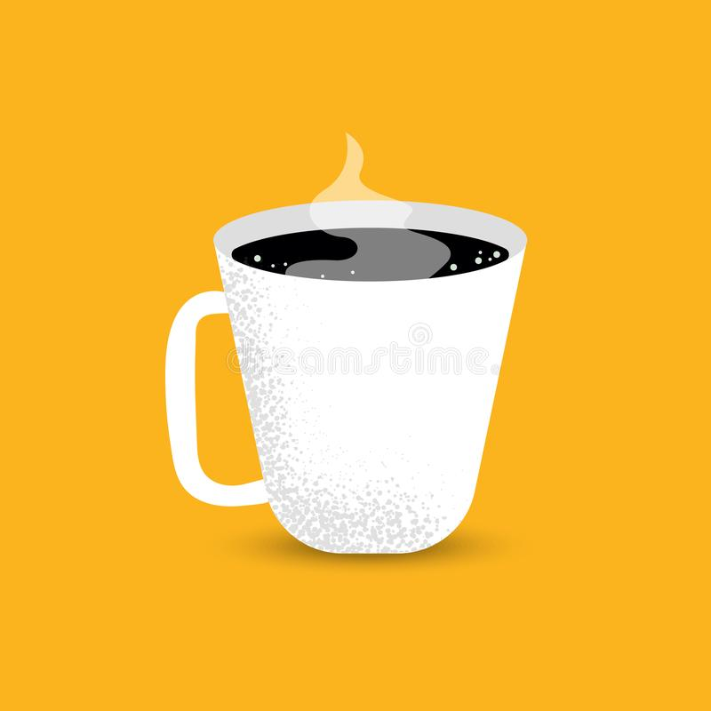 Cup of Fresh Coffee. Vector Illustration stock illustration