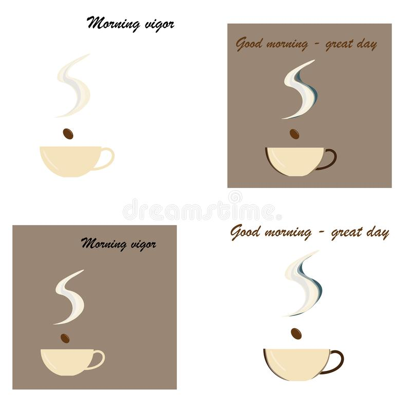 Cup of Fresh Coffee. Vector Illustration. Flat Style. Decorative Design for Cafeteria, Posters, Banners, Cards royalty free illustration
