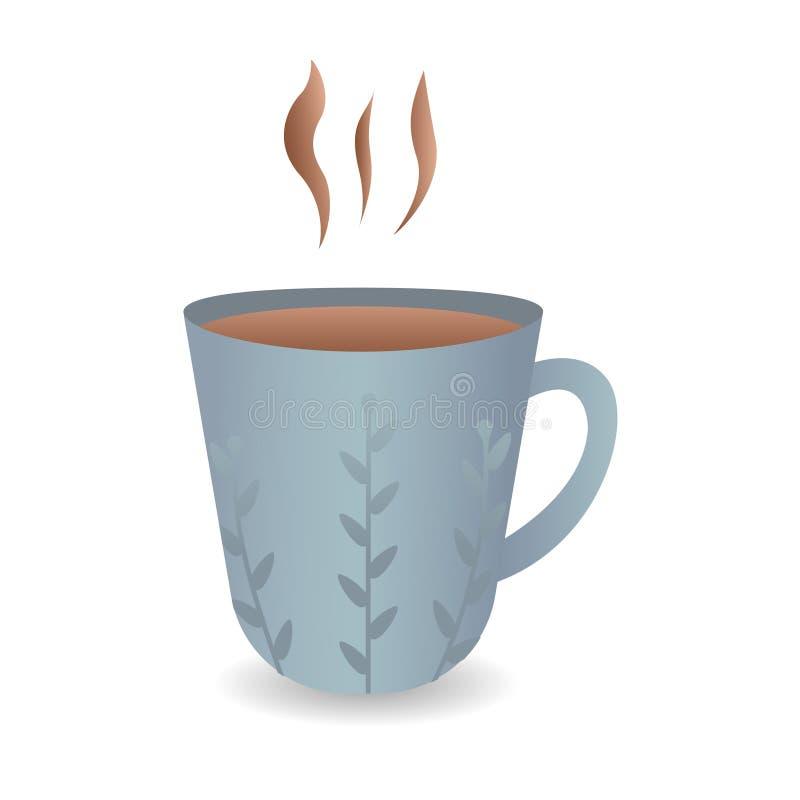 Cup frischer Kaffee Auch im corel abgehobenen Betrag Flache Art dekorativ stock abbildung