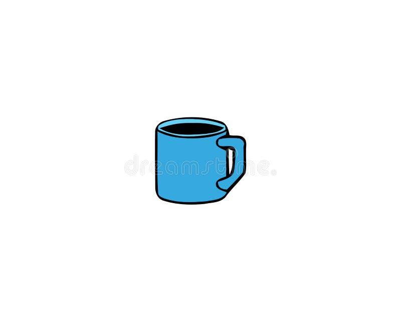 Cup frischer Kaffee Auch im corel abgehobenen Betrag Flache Art Dekorativer Entwurf f?r Cafeteria, Plakate, Fahnen, Karten lizenzfreie abbildung