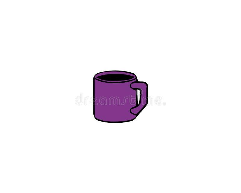Cup frischer Kaffee Auch im corel abgehobenen Betrag Flache Art Dekorativer Entwurf f?r Cafeteria, Plakate, Fahnen, Karten vektor abbildung