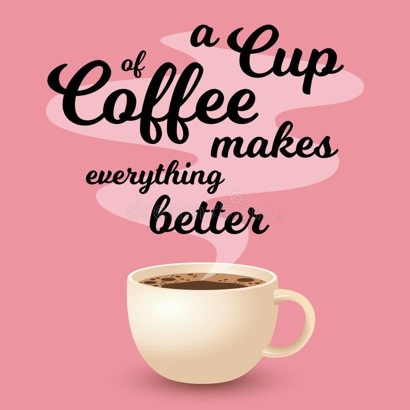 Cup frischer Kaffee lizenzfreie abbildung