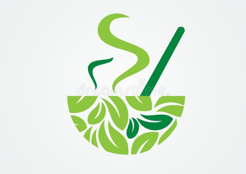 Cup grüner Tee lizenzfreie abbildung
