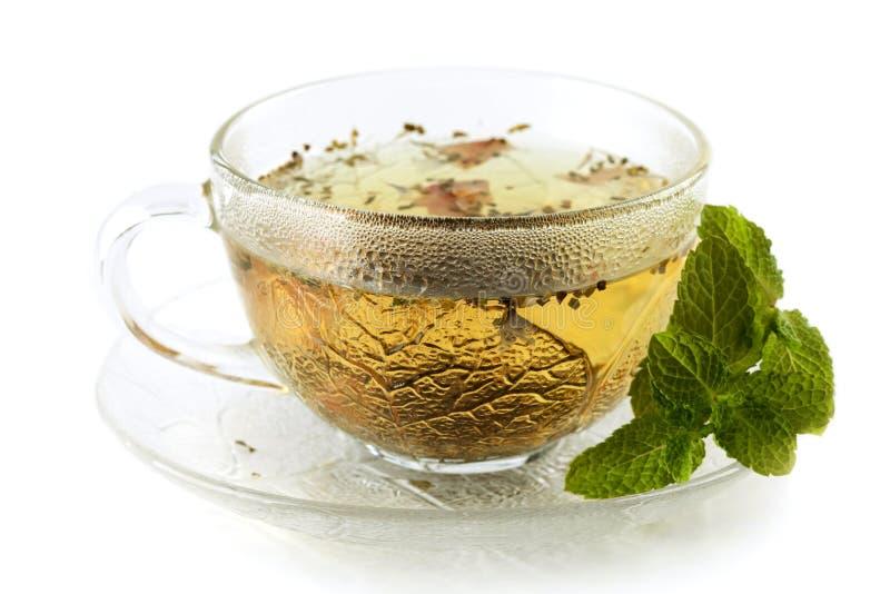 Download Cup Grüner Tee Mit Zitrone Und Minze Stockfoto - Bild von getränk, glas: 12200534