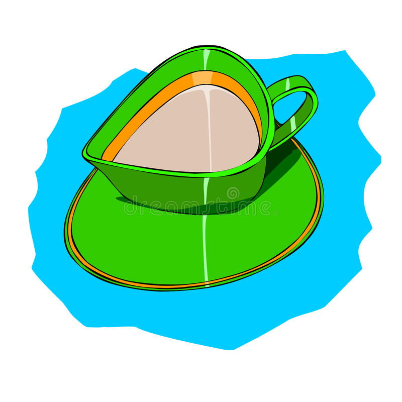 Cup GREEN color. royalty free stock photo