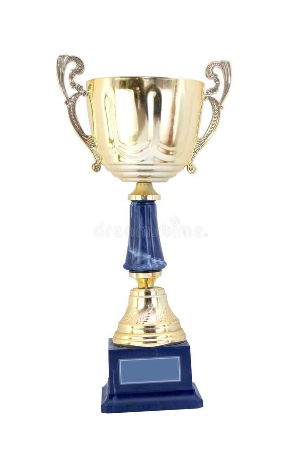 cup guld royaltyfri fotografi