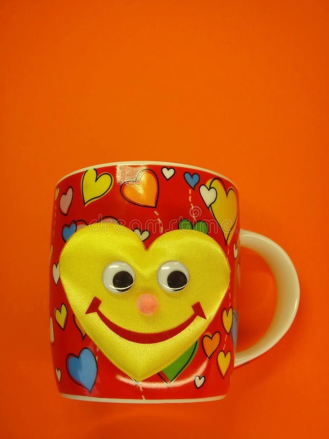 Download Cup with hears and smile stock image. Image of birthday - 12775881