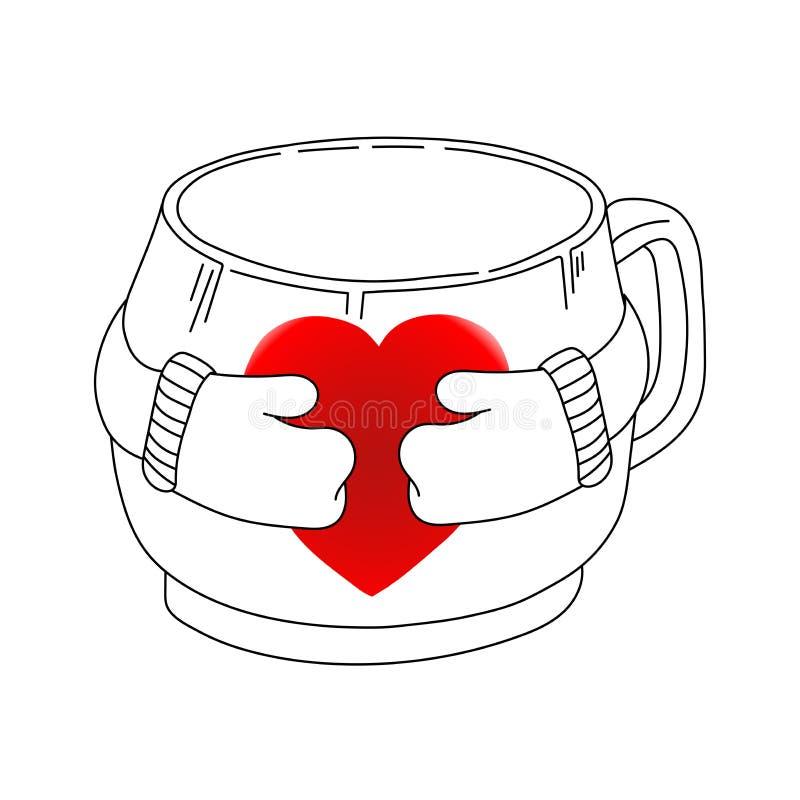 Cup_heart ilustracja wektor