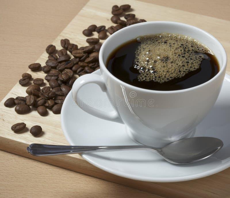 Cup heißer Kaffee stockbild