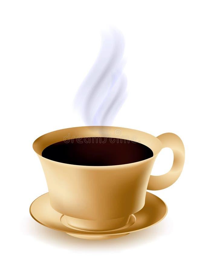 Cup heißer Kaffee stock abbildung