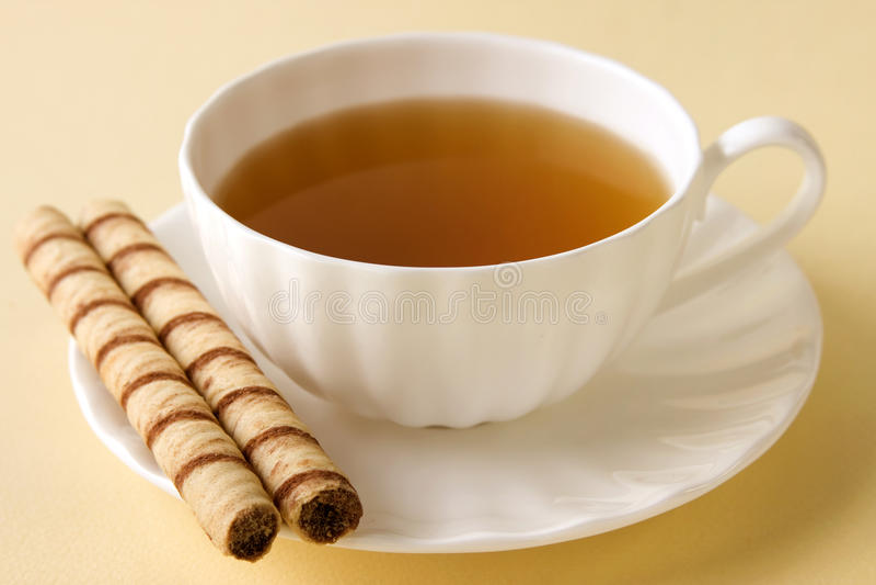Cup heißer Tee lizenzfreie stockfotos