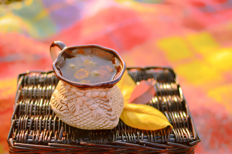Download A cup of herbal tea stock image. Image of calendula, basket - 22042903