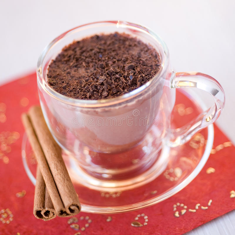 Download Cup of hot chocolate stock image. Image of closeup, beverage - 23187663