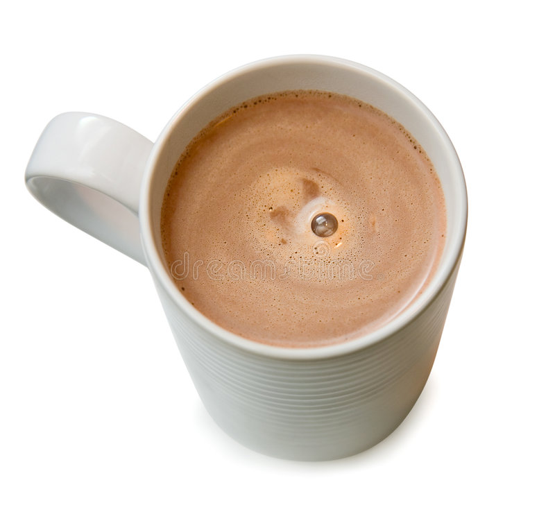 A cup of hot chocolate stock images