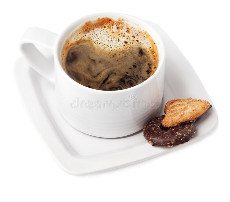 A cup of hot coffee. royalty free stock image