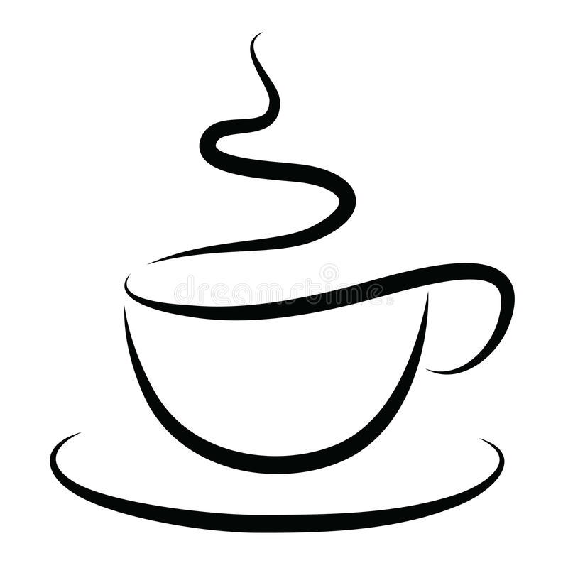 Cup of Hot Coffee royalty free illustration
