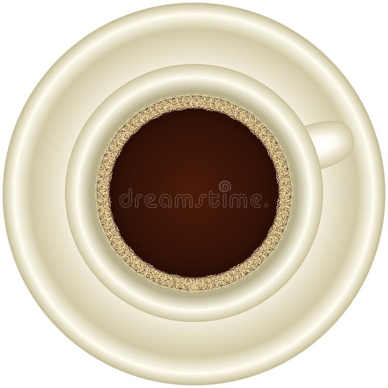 A Cup of hot espresso with foam stock photography