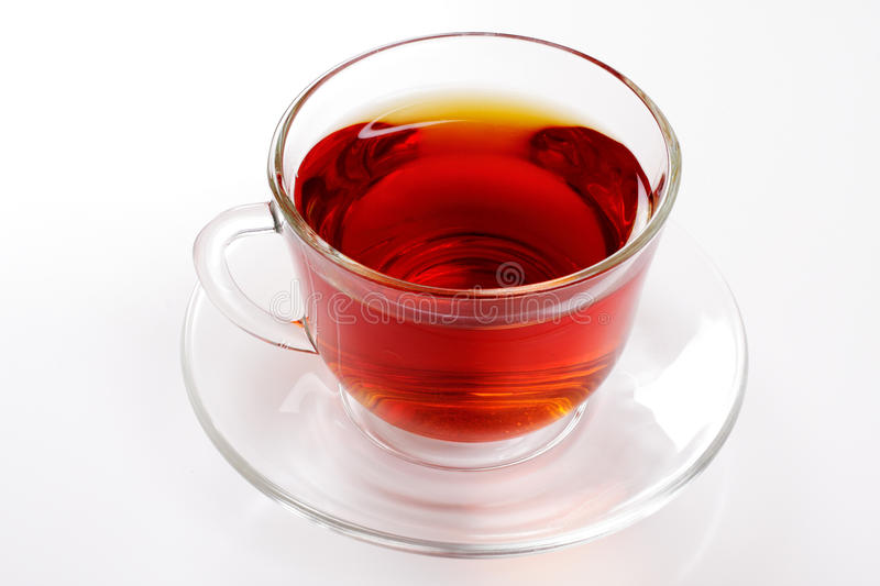 Cup of hot tea over white stock photo