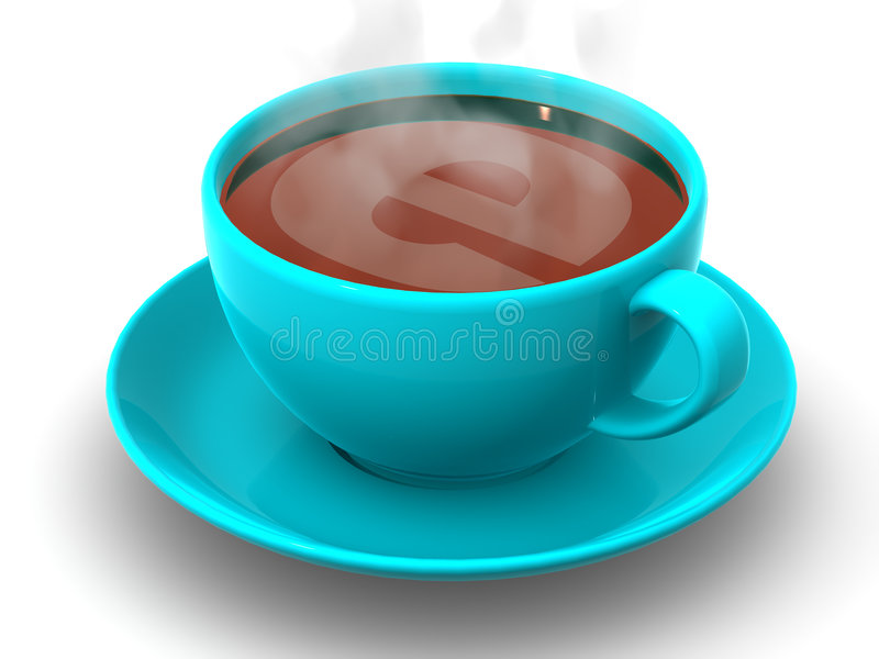 Cup with internet stock illustration