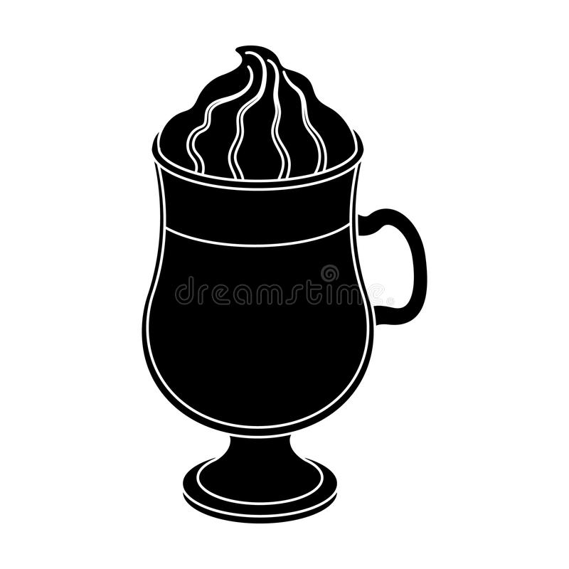 Cup Of Irish Coffeedifferent Types Of Coffee Single Icon In Black