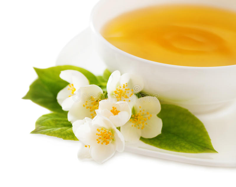 Cup of the jasmin tea stock image