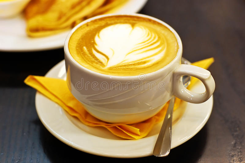 Cup of latte royalty free stock images