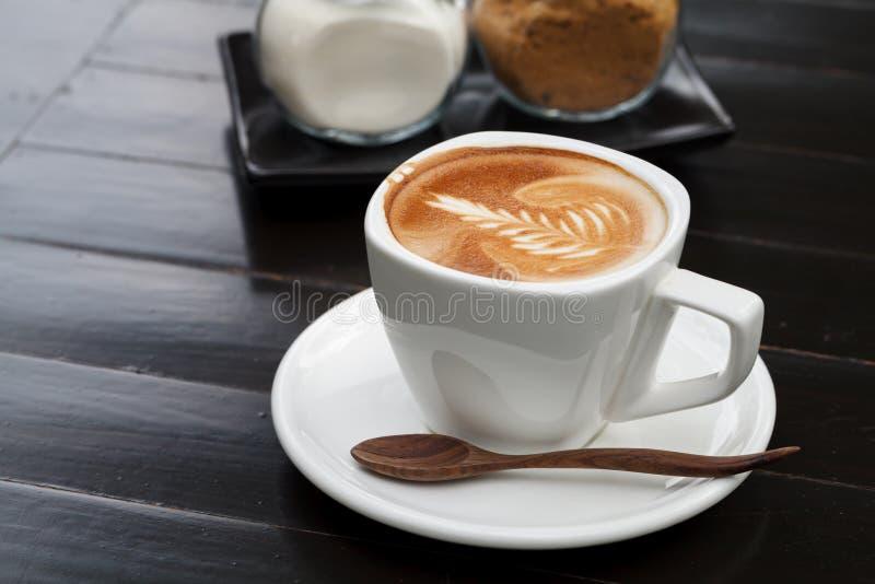 Cup latte Kaffee lizenzfreies stockbild
