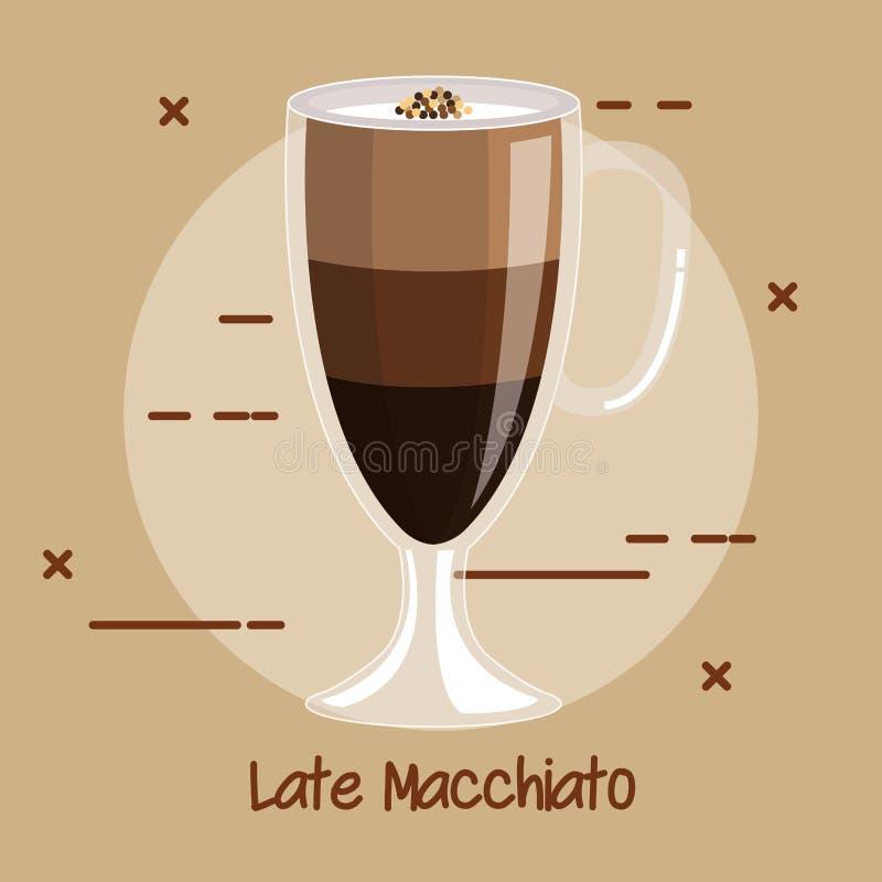 Cup Of Latte Macchiato Coffee Recipe Menu Element For Bar