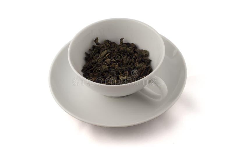 cup liść oolong herbacianego biel zdjęcie stock