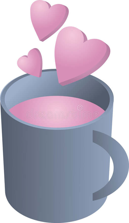 Cup Liebe stock abbildung