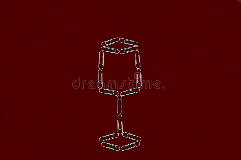 Cup with paper clips royalty free stock photography