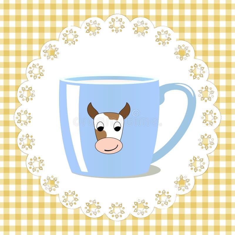 Cup of milk vector illustration