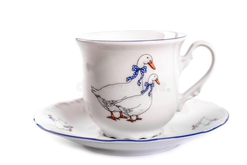 Cup mit einem Saucer lizenzfreies stockfoto