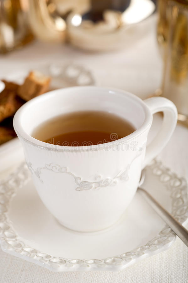 Cup mit englischem Tee lizenzfreie stockfotografie